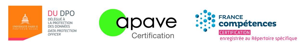 logos des partenaires du diplôme DU DPO de Paris 2